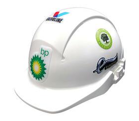Kuppelklistermærker til hjelme